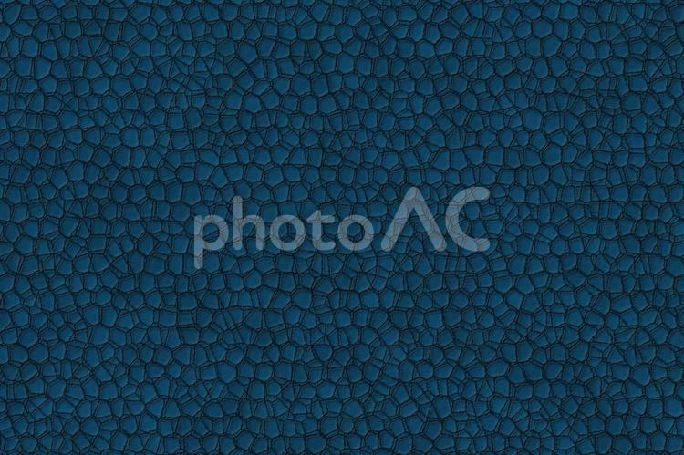 背景素材 ― クラックレザー(割れのある革)/青・ブルーの写真
