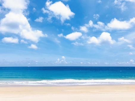 熱帶度假村海灘天空背景海背景