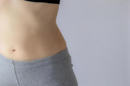 Female waist gray back muscle training
