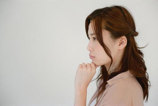 Thinking lady 7