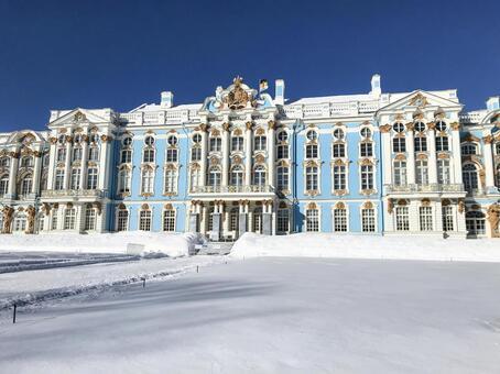 겨울의 예카테리나 궁전 (러시아)