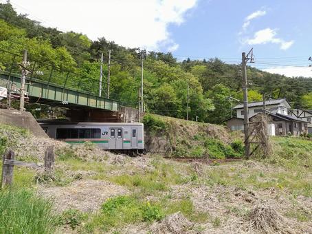 도호쿠 본선 후쿠시마 행 위 전철