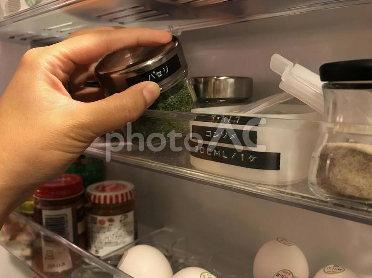 冷蔵庫の整理整頓 1の写真