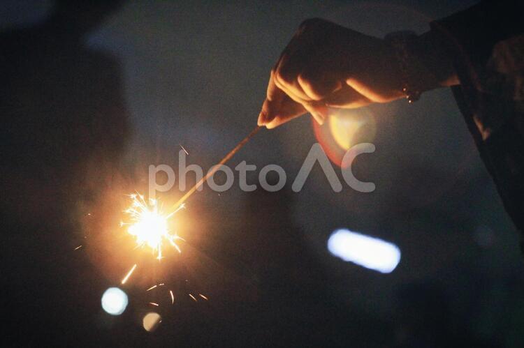 手持ち花火の写真