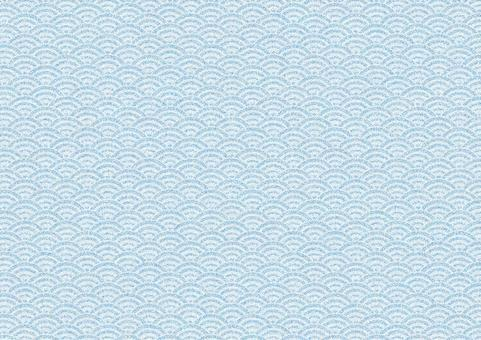 Chirimen Qinghai wave pattern (blue)