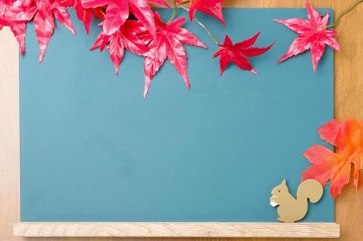 Blackboard frame of maple and squirrel