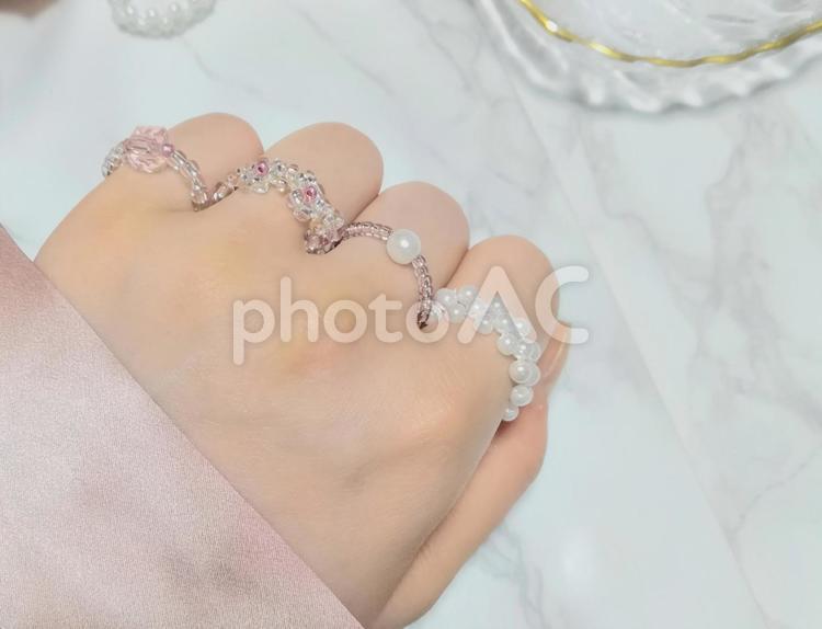 ハンドメイド アクセサリー 指輪の写真