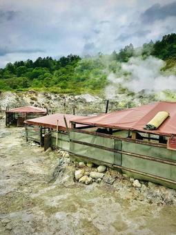 다마가와 온천의 온돌 오두막