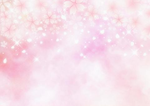 반짝 반짝 빛나는 벚꽃 환상적인 봄 배경 소재 (핑크)
