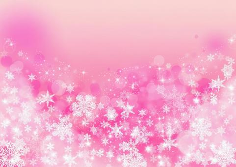 雪水晶质感_桃色