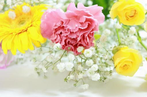 Bouquet gentle hues Background wallpaper material Carnation Gerbera roses
