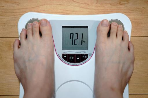 Weigh yourself on a scale.