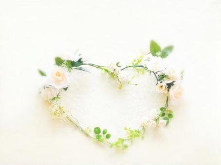 Heart flower message card