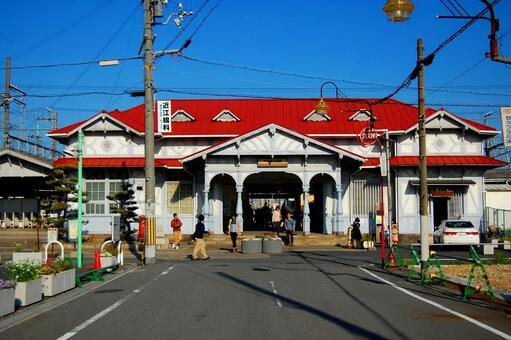 Nankai Denki Hamaji Park Station building