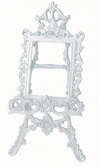 Antique silver frame & easel 2 (with cut-out pass)