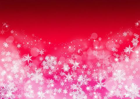 雪水晶质地_红色