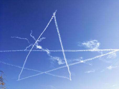 Aviation Festival Star Blue Impulse Contrail Blue Sky