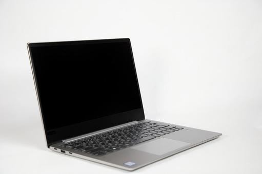 Laptop with white background
