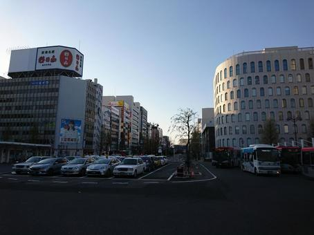 Scenery in front of Niigata Station