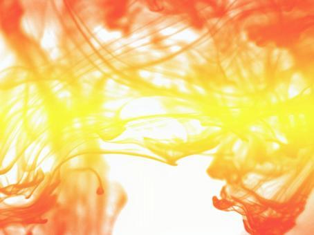 흰색 배경 오렌지 연기