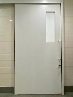 White sliding door