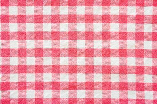 Pink check cloth texture