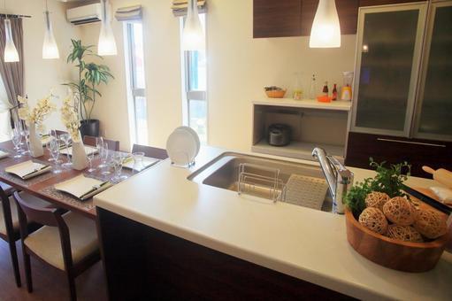 Interior dining kitchen