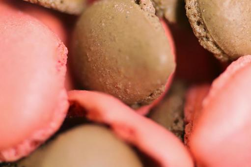 Strawberry and chocolate flavored macaron drop sweets sweets