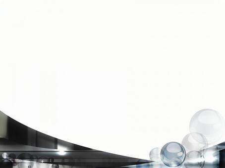 Silver black gradation glossy wave background