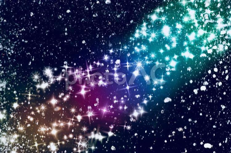 星空  キラキラ テクスチャの写真
