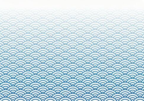 Blue wave gradation