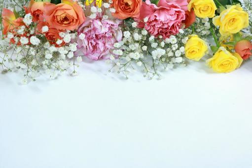 Flower frame Botanical frame background Wallpaper material