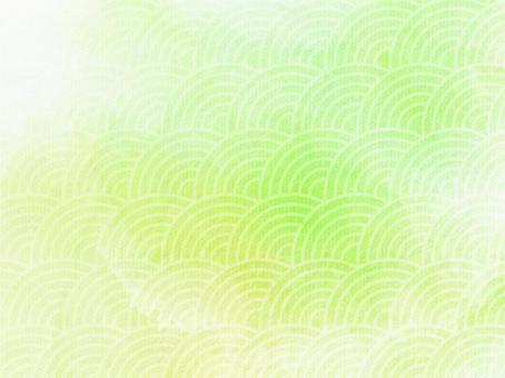 He handle watercolor background (Qinghai wave)