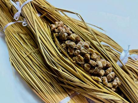 Food material __ straw natto