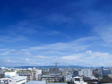Blue Sky and the cityscape