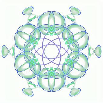 Fantasy hexagonal PSD background through 20201006_004