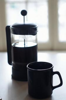 French press and cup 1