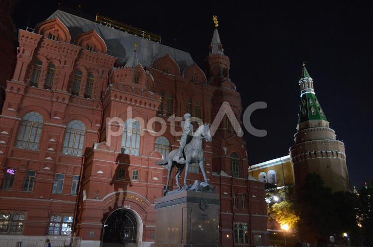 モスクワ ジュコフ元帥の像の写真