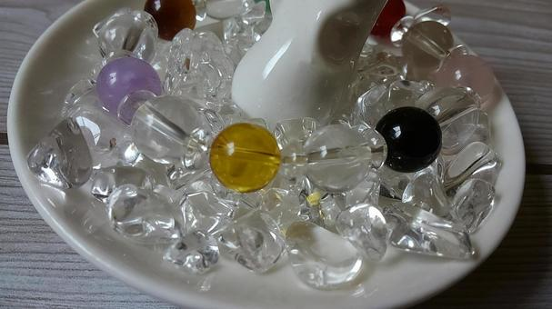 Natural stones and beads and rings