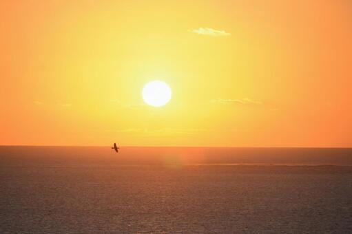 Beautiful sunrise Okinawa in December