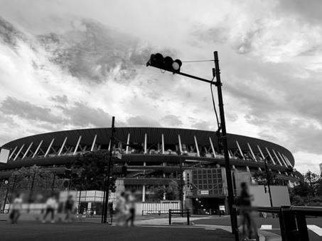New National Stadium Monochrome