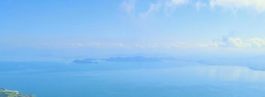 상공에서 본 비와코의 풍경, 시가현