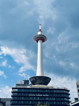 Kyoto Tower in summer