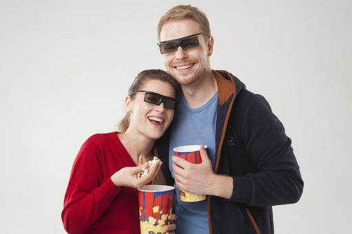 Couple seeing 3D movies 28