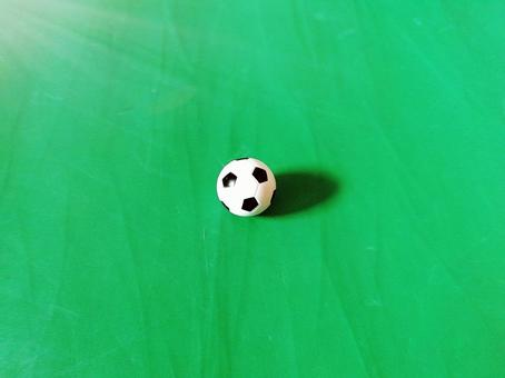Soccer ball that shines in green