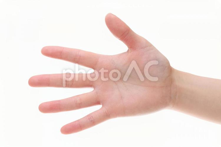 若い女性の手 パーの写真