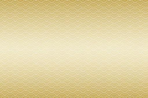 Japanese background of gold background