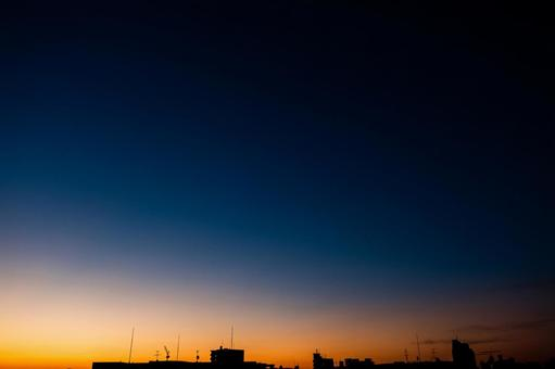 새벽의 동쪽 하늘