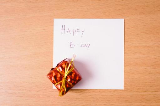 Birthday card and present 1