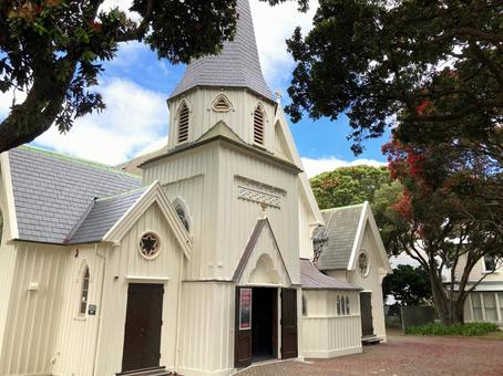 White church also used for weddings (New Zealand)